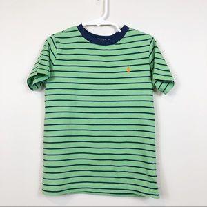 Polo Ralph Lauren Boy's 5 Green Striped Pullover
